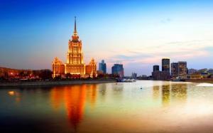 Москва река вечером