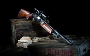 Ружье с оптическим прицелом