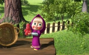 Маша ест малину