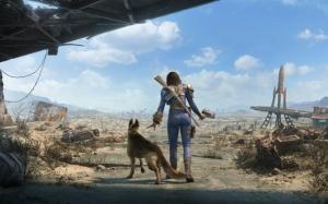 Fallout 4 персонаж с собакой