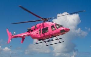 Розовый вертолет
