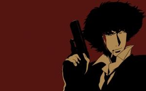 Спайк Шпигель с пистолетом