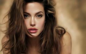 Анджелина Джоли рисунок