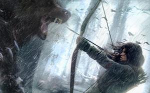 Лара Крофт против медведя