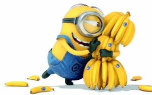 Миньон любитель бананов