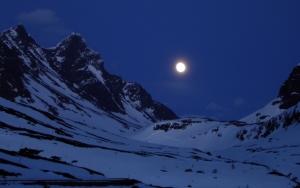 Горы ночью