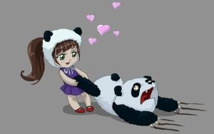 Девочка и панда