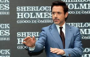 Роберт Дауни на премьере Шерлока Холмса