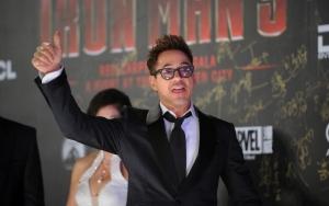 Роберт Дауни на премьере Железного Человека